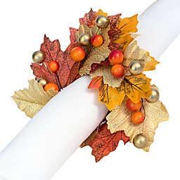 Harvest Autumn Wreath Napkin Rings (Set of 4)