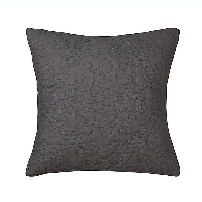 Alternate image 1 for Wamsutta® Cambridge European Pillow Sham in Plum/Grey