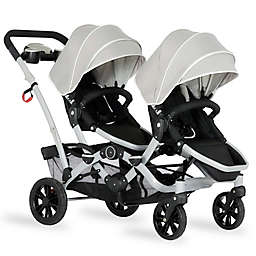 Dream on Me Track Tandem Stroller Face to Face Edition in Light Grey