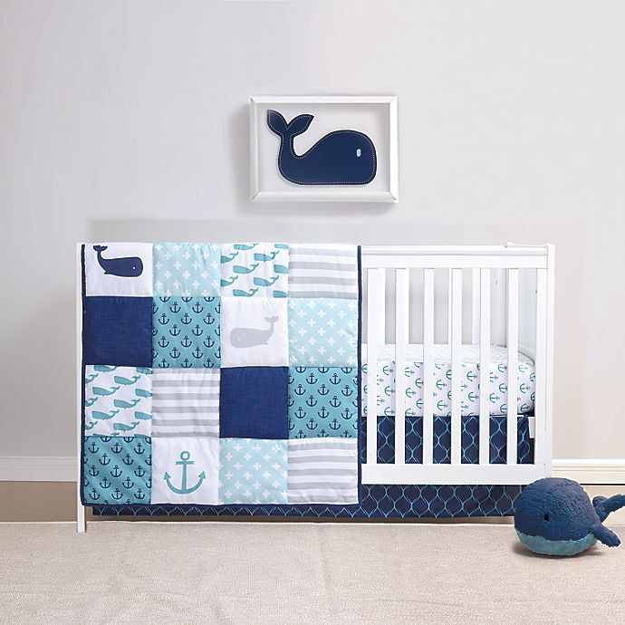 Alternate image 1 for The Peanutshell™ Nautical 3-Piece Crib Bedding Set