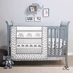 PS by the peanutshell™ Elephant Walk 3-Piece Crib Bedding Set in Grey/White