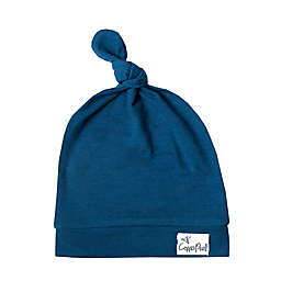 Copper Pearl™ Size 0-4M River Top Knot Hat in Blue