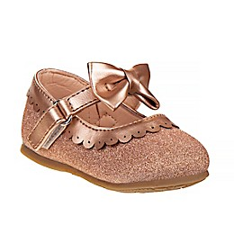 Laura Ashley® Mary Jane Shoe with Bow in Rose Gold