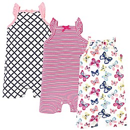 Touched by Nature 3-Pack Organic Cotton Rompers