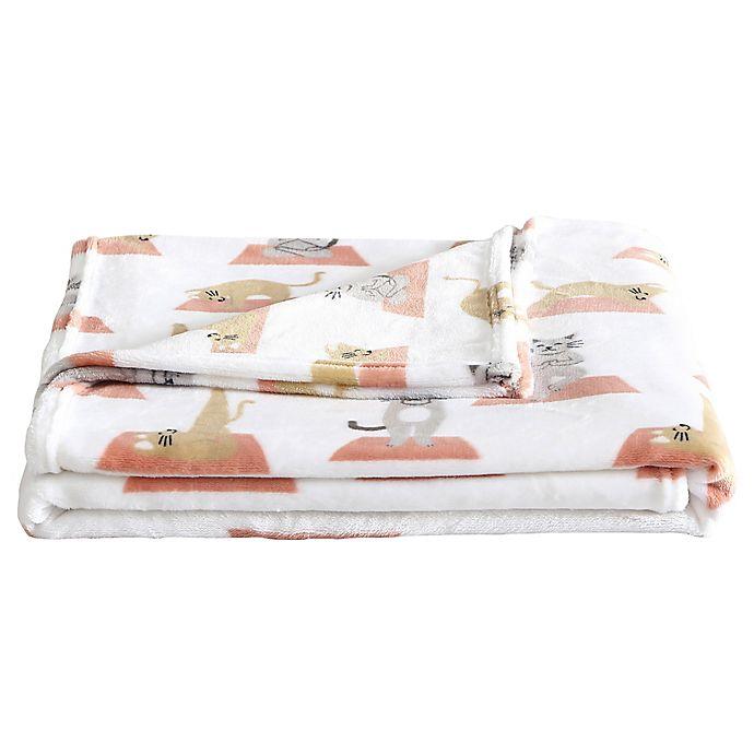 Alternate image 1 for Envogue Yoga Cat Throw Blanket