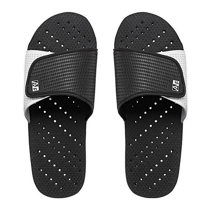 Alternate image 1 for AquaFlops Men's Slide Shower Shoes in Grey/Black