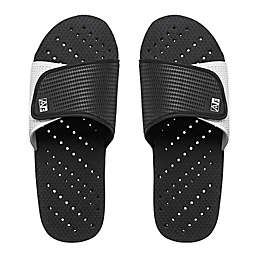 AquaFlops Men's XXL Slide Shower Shoes in Grey/Black