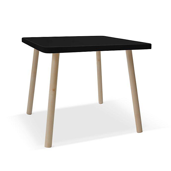 Alternate image 1 for Nico & Yeye Tippy Toe 23.5-Inch Square Kids Table in Walnut/Black