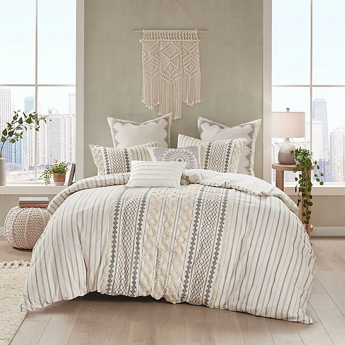 Alternate image 1 for INK+IVY Imani 3-Piece Full/Queen Duvet Cover Set in Ivory