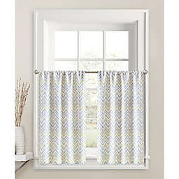 Colordrift Chevron Mirage 45-Inch Window Curtain Tier Pair in Yellow