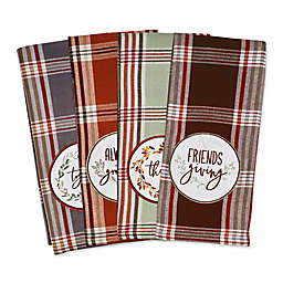 """Thanksgiving """"Gathered Together"""" Kitchen Towels (Set of 4)"""