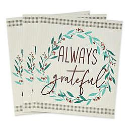 "Thanksgiving ""Always Grateful"" Sweedish Dishcloths (Set of 3)"