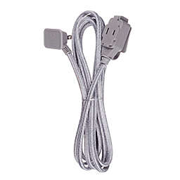 Globe Electric Designer Series 9-ft 3-Outlet Extension Cord in Charcoal and Light Grey