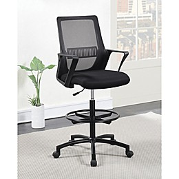 Galand Mesh Office Drafting Chair in Black