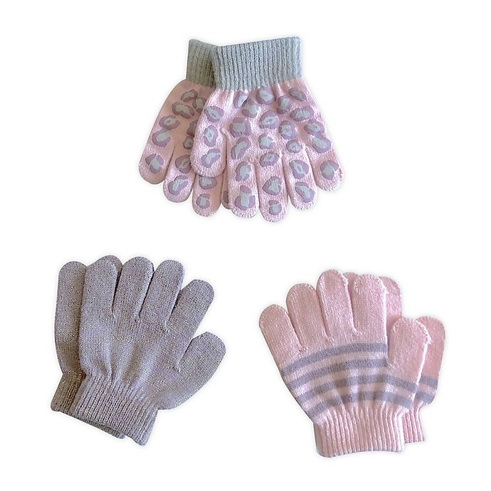 Alternate image 1 for Toby Fairy™ 3-Pack Leopard Toddler Gripper Mittens