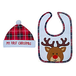 Neat Solutions® 'My First Christmas' Bib and Hat Set
