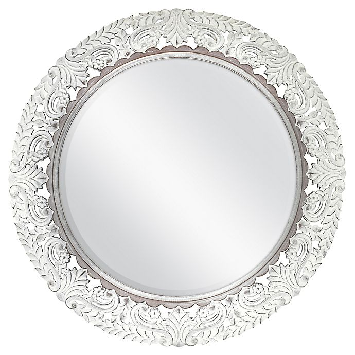 30 Inch Round Fl Carved Wall Mirror, Decorative Wall Mirrors Bed Bath And Beyond