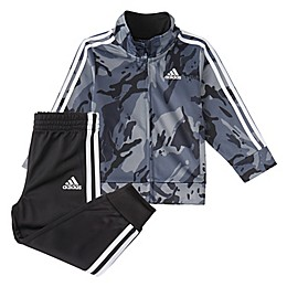 adidas® 2-Piece Classic Camo Jacket and Pant Set in Black