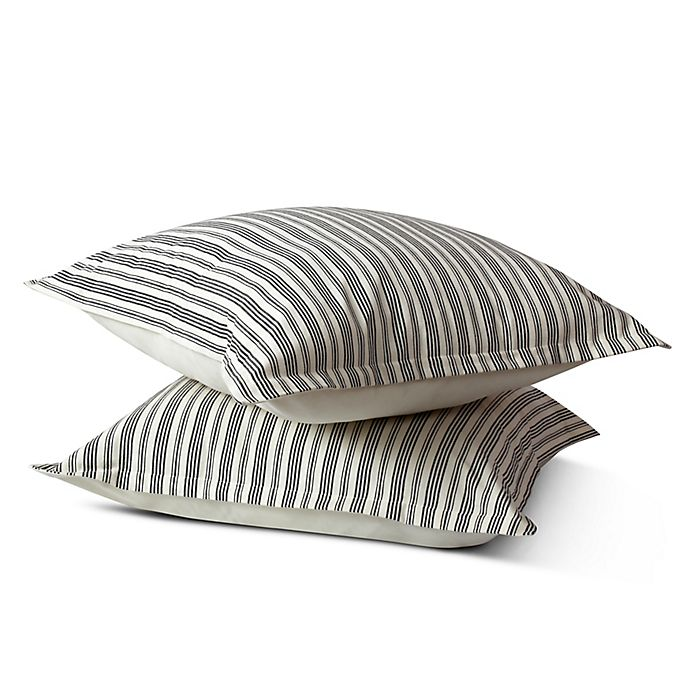 Alternate image 1 for Bee & Willow™ Home Quarry Stripe European Pillow Sham in Grey/Natural