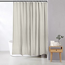 Bee & Willow™ Home Dotted Lines Shower Curtain in Beige