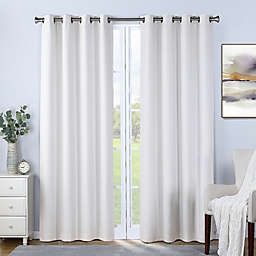 Therapedic® Nantes 95-Inch 100% Blackout Grommet Window Curtain Panel in White