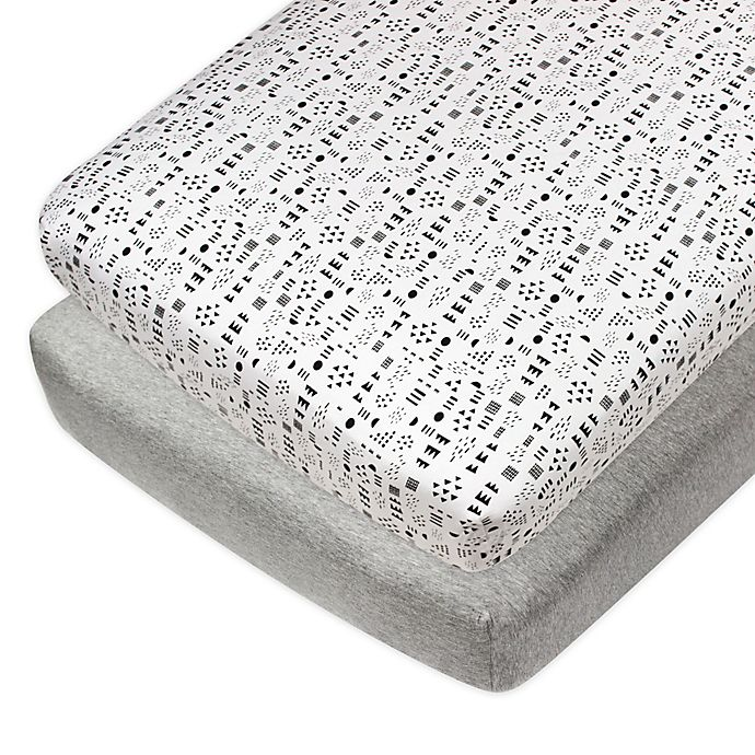 Alternate image 1 for The Honest Company® Patterned 2-Pack Organic Cotton Fitted Crib Sheets