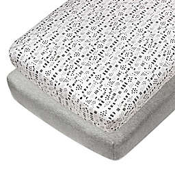 The Honest Company® Patterned 2-Pack Organic Cotton Fitted Crib Sheets