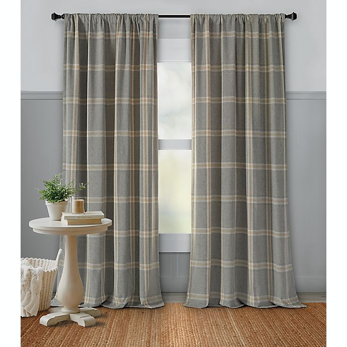 Alternate image 1 for Bee & Willow™ Home Plaid Rod Pocket Room Darkening Window Curtain Panel (Single)