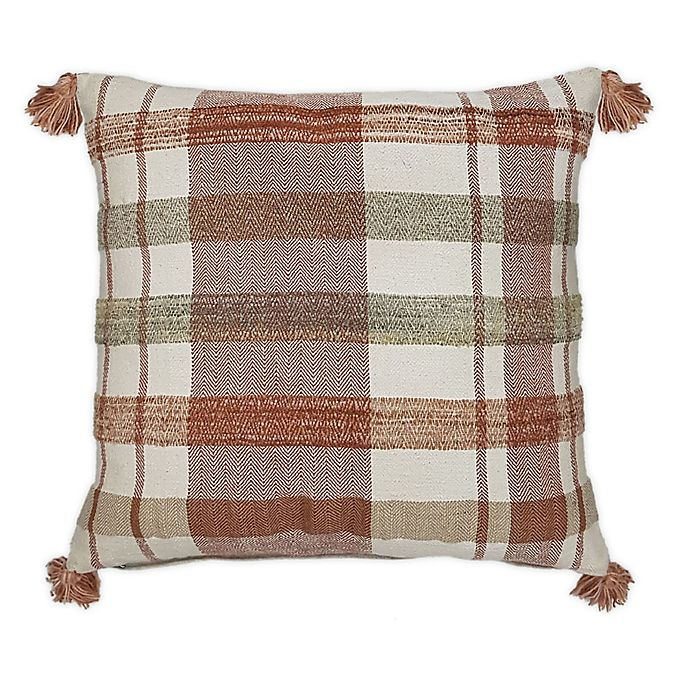 Alternate image 1 for Bee & Willow™ Home Striped Square Throw Pillow in Spice