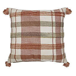 Bee & Willow™ Home Striped Square Throw Pillow in Spice