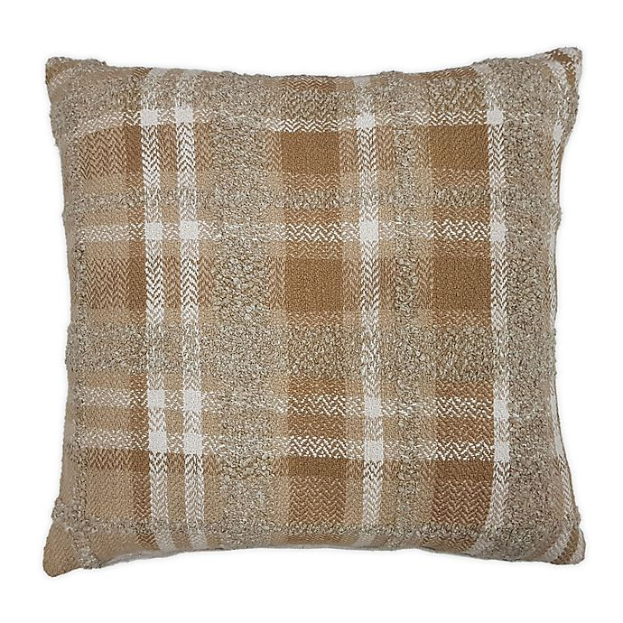 Alternate image 1 for Bee & Willow™ Home Checkered Square Throw Pillow in Neutral