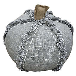 Bee & Willow™ Home Small Autumn Pumpkin-Shaped Round Throw Pillow in Grey
