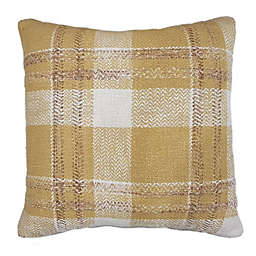 Bee & Willow™ Home Checkered Square Throw Pillow in Gold