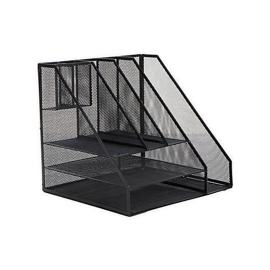 Alternate image 1 for Mind Reader 8-Compartment Mesh Desk Organizer