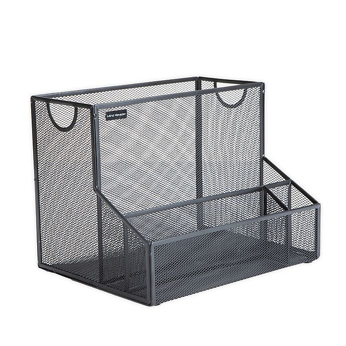 Alternate image 1 for Mind Reader Large Metal File Organizer Storage Basket