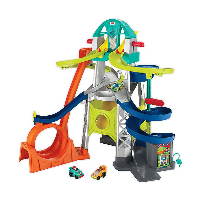 Alternate image 1 for Fisher-Price® Wheelies® Little People® Launch & Loop Raceway