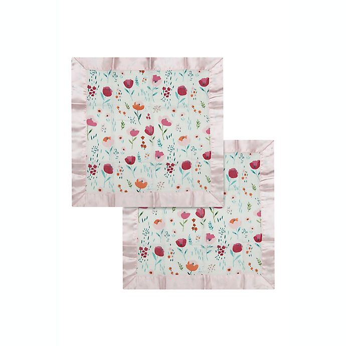 Alternate image 1 for Loulou Lollipop® 2-Pack Rosey Bloom Security Blanket in Pink/White