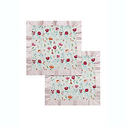 Loulou Lollipop® 2-Pack Rosey Bloom Security Blanket in Pink/White