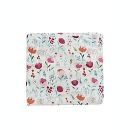 Loulou Lollipop Rosey Bloom Muslin Swaddle Blanket