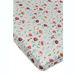 Loulou Lollipop® Rosey Bloom Muslin Fitted Crib Sheet