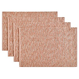 Twist Rib Reversible Placemats in Cinnamon (Set of 4)