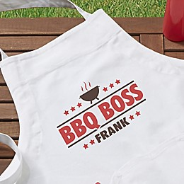 BBQ Boss Personalized Adult Apron