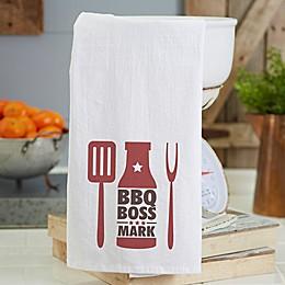 BBQ Boss Personalized Flour Sack Towel