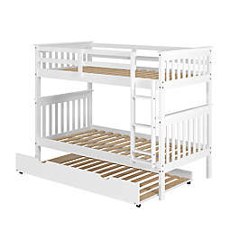 Mission Twin Over Twin Bunk Bed with Trundle