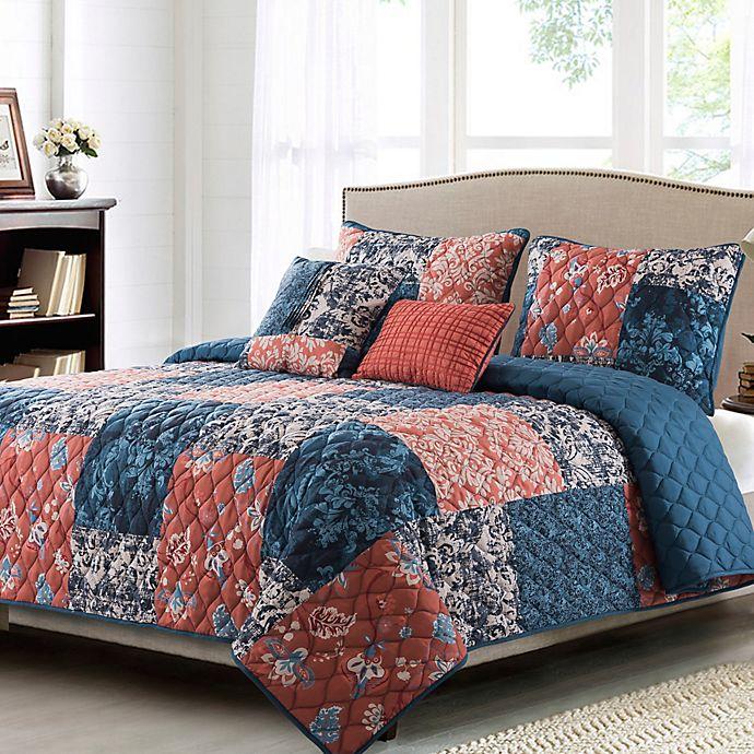 Alternate image 1 for B. Smith® Kiki 5-Piece Reversible Quilt Set