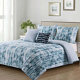 B. Smith Fatima 5-Piece Queen Quilt Set in Blue