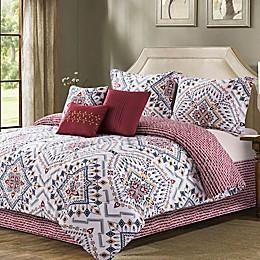 B. Smith® Erika 7-Piece Reversible Comforter Set in Burgundy
