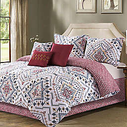 B. Smith® Erika 7-Piece Reversible Comforter Set in Burgundy