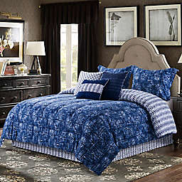 B. Smith William 7-Piece King Comforter Set in Indigo