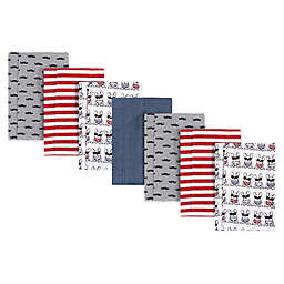 Hudson Baby® 7-Pack French Dog Flannel Burp Cloths